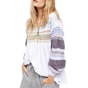 NWT Free People cozy cottage sweater - S